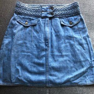Free people High waist jean skirt